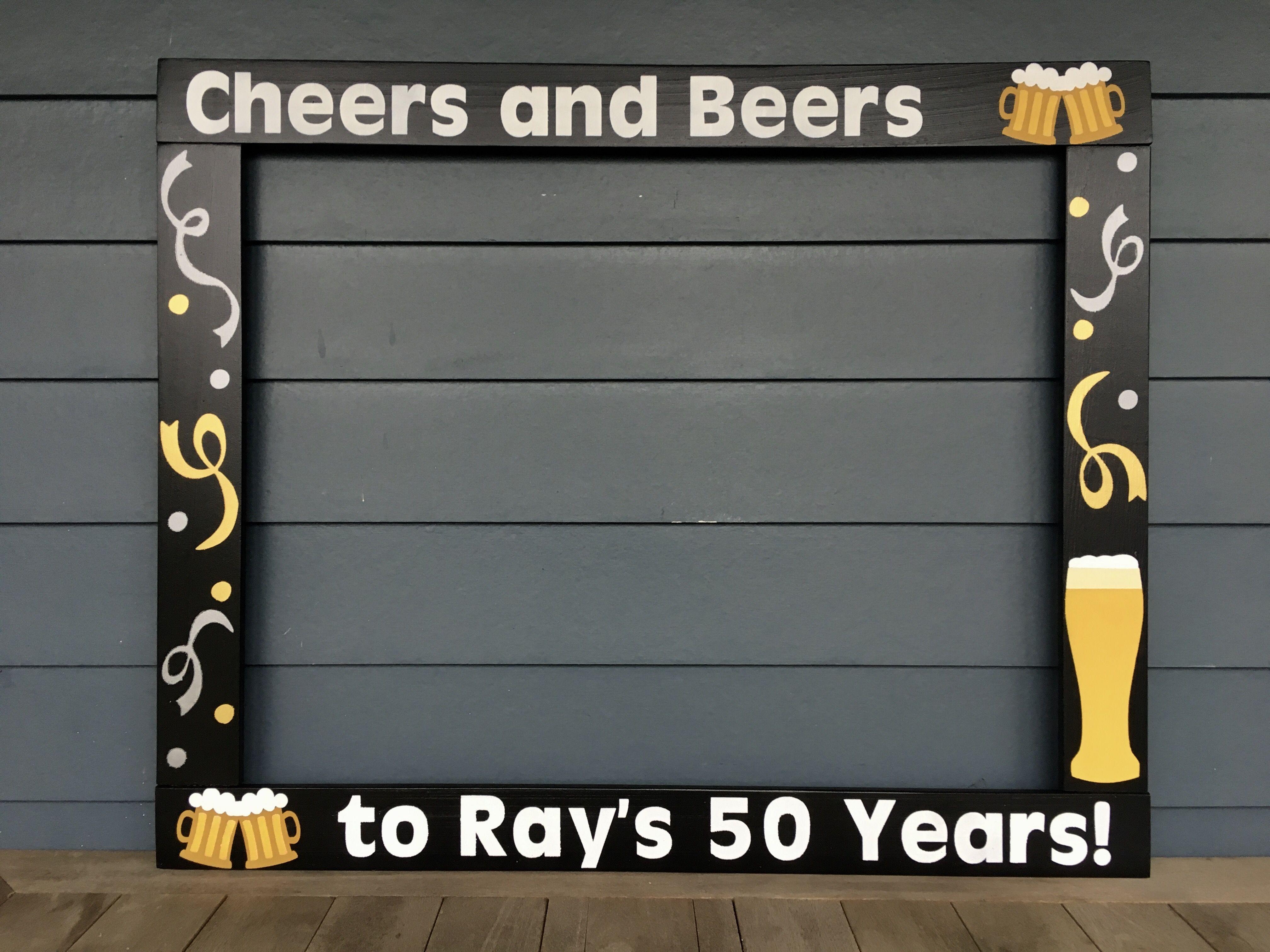 30th Birthday Photobooth 40th Birthday Photo Frame Prop 50th