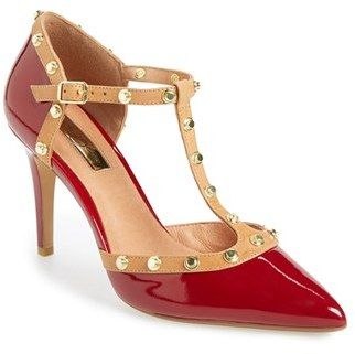 5e001ccf5aa Halogen® 'Martine' Studded T-Strap Pump (Women) $99.95 by Halogen at ...
