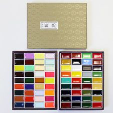 New Kissho Gansai Japanese Watercolor Paint 72 Colors Set Japan