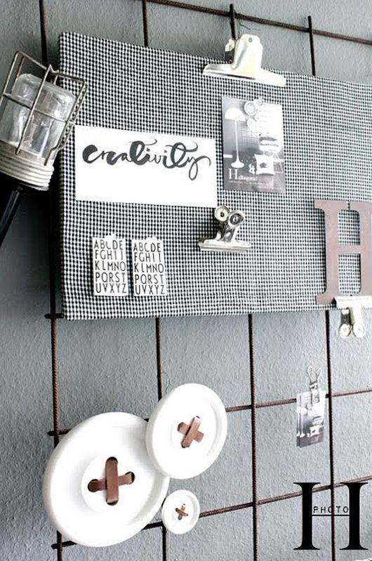 Drahtgitter als Pinnwand | Schönes Arbeitszimmer | Pinterest ...