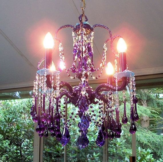 Purple Ocean Bohemian Vintage Birdcage by sheriscrystals on Etsy