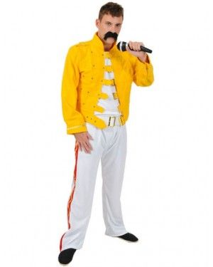 Freddie Mercury Deluxe Concert Outfit Queen Rock Star Halloween Adult Costume