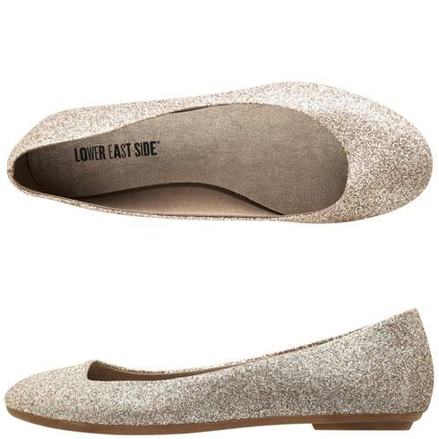 Gold Glittery Flats From Payless Way Cute And Great Price