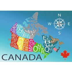 Canadian artist Louise Jessup has designed this Ravensburger map of