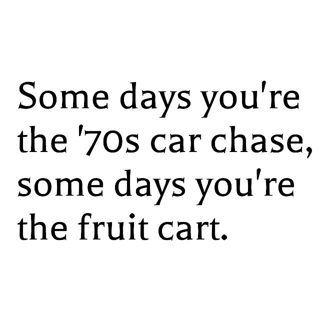 Get an airbag for that fruit cart!! Carry On!