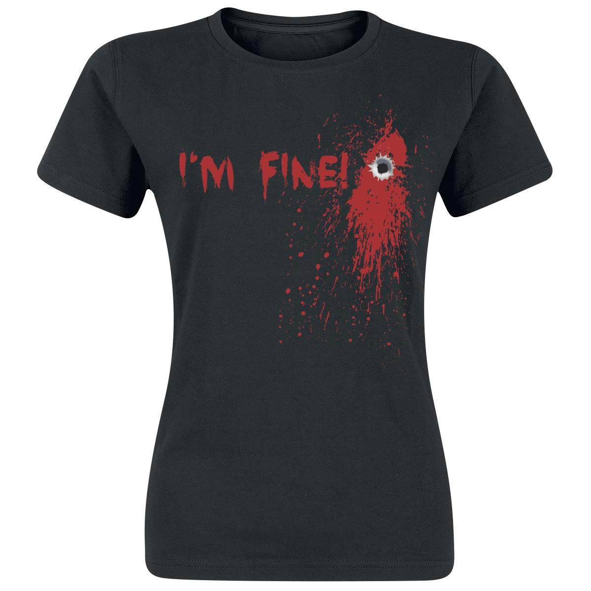 I'm Fine!  T-Shirt  »I'm Fine!« | Buy now at EMP | More Fun merch  T-shirts  available online ✓ Unbeatable prices!
