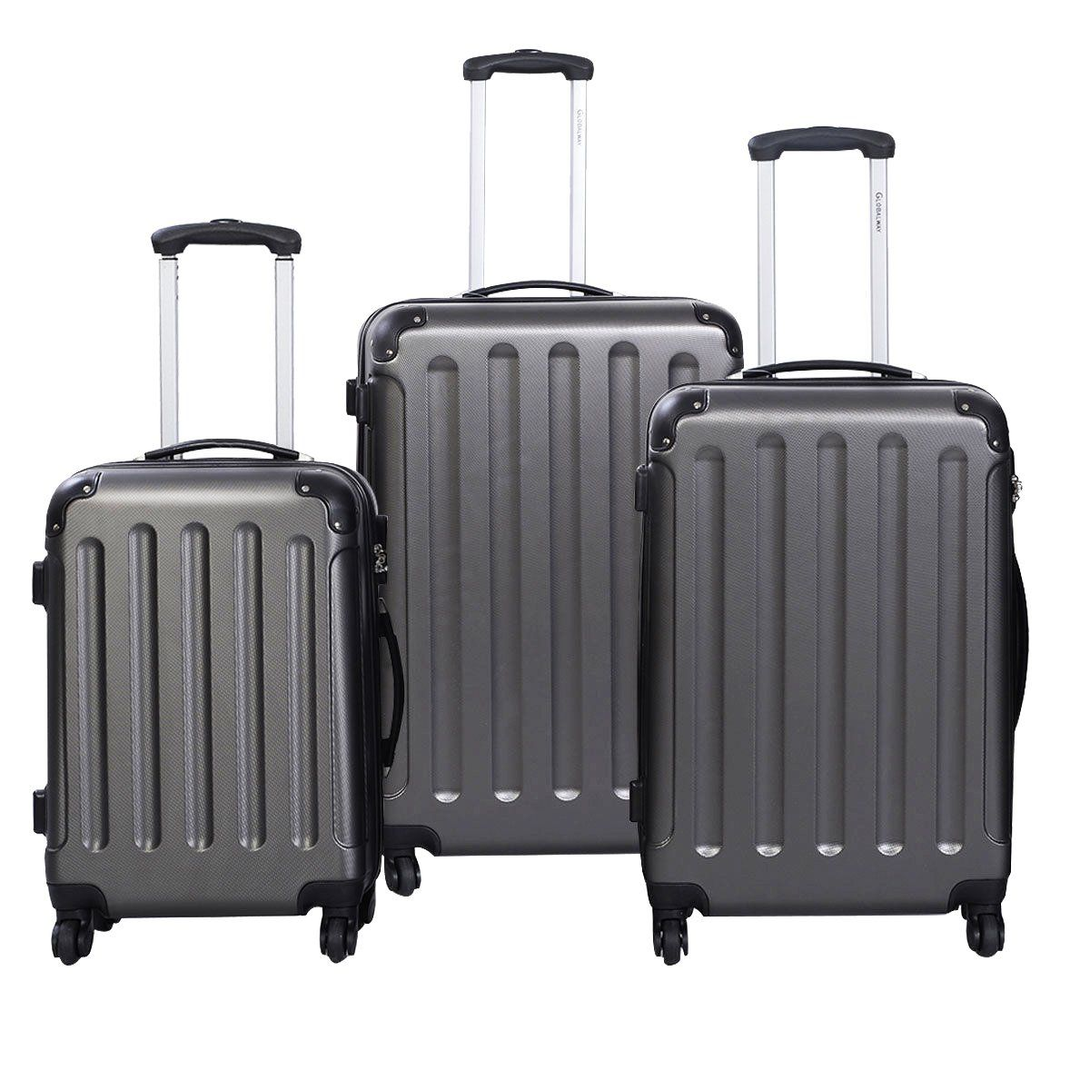 4f27595ff90f Luggage Sets On Sale 3 Pcs Trolley Wheels Portable Suitcase Travel Bag Set