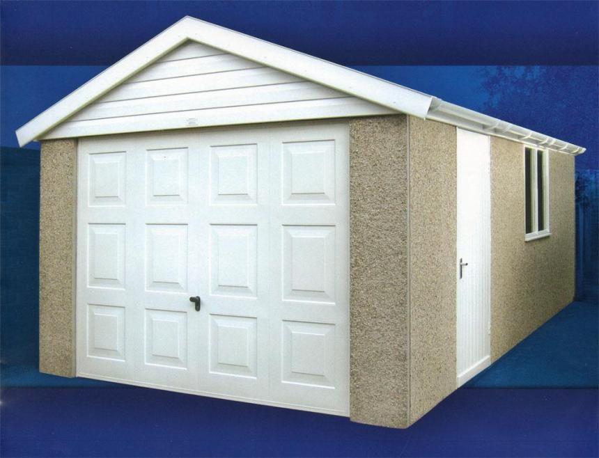 Wonderful Prefab Garages Plans With White Wooden Door Design Ideas In Beige Wall Decor And White Door Decoration Inspiration
