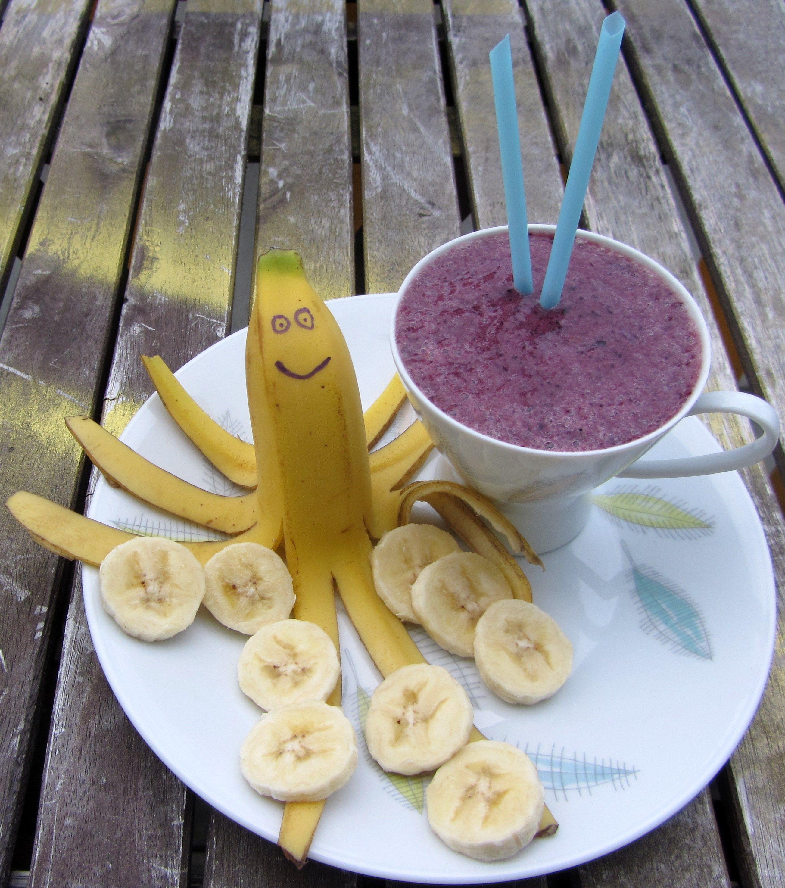 Bananenkrake & Blaubeertinte, Kinderyogafood, Yogarockaz Portal, Praxisideen für Erzieher, Pädagogen & Eltern - Anmelden & Dabeisein