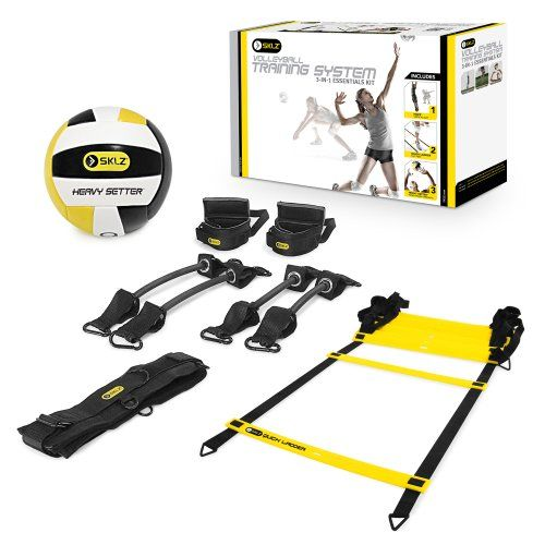 Sklz Volleyball Training System 3 In 1 Essentials Kit Amazon Sports Outdoors Volleyball Training Equipment Volleyball Training Basketball Workouts