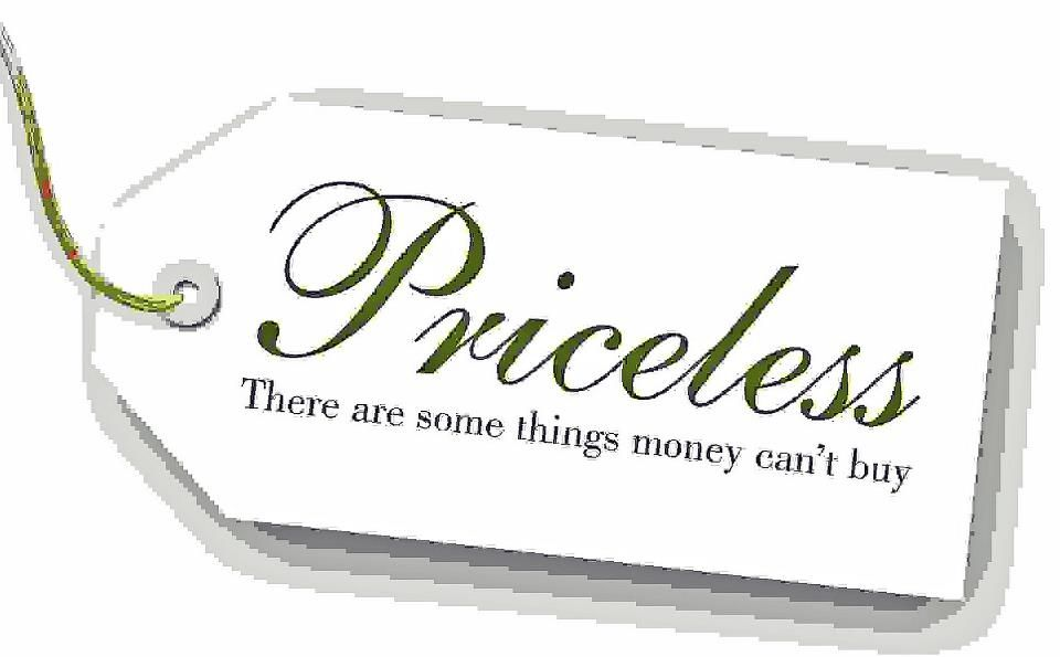 PRICELESS ~ There are some things money just can't buy