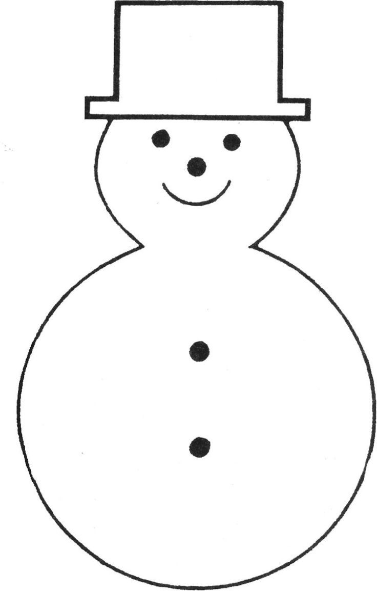 snowman template cut him out and glue onto a color piece of paper