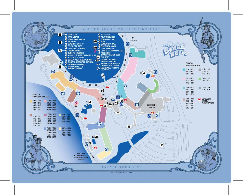 Disney Resorts -- Disney's Boardwalk Inn map | WDW -- Disney Resorts on