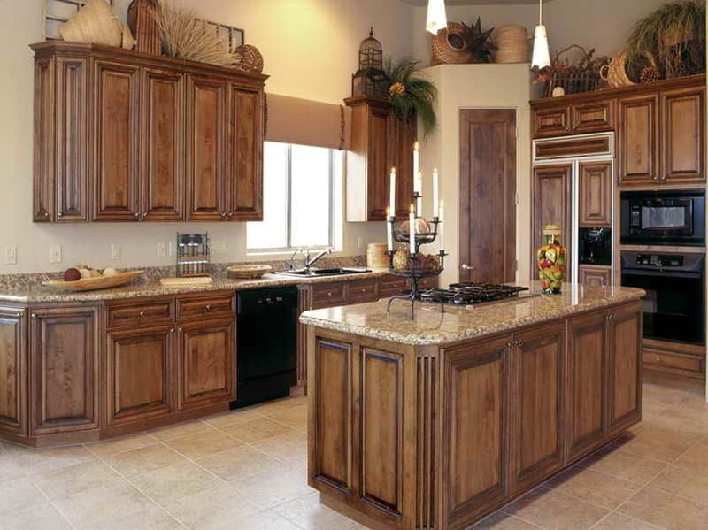 How To Stain Oak Kitchen Cabinets Plus Staining Cabinets Without Sanding  With Stained Wood Cabinets