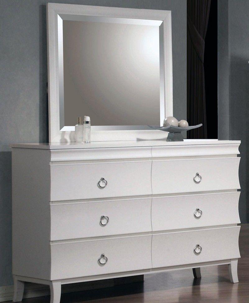 Brookhurst 6 drawer dresser white furniture white