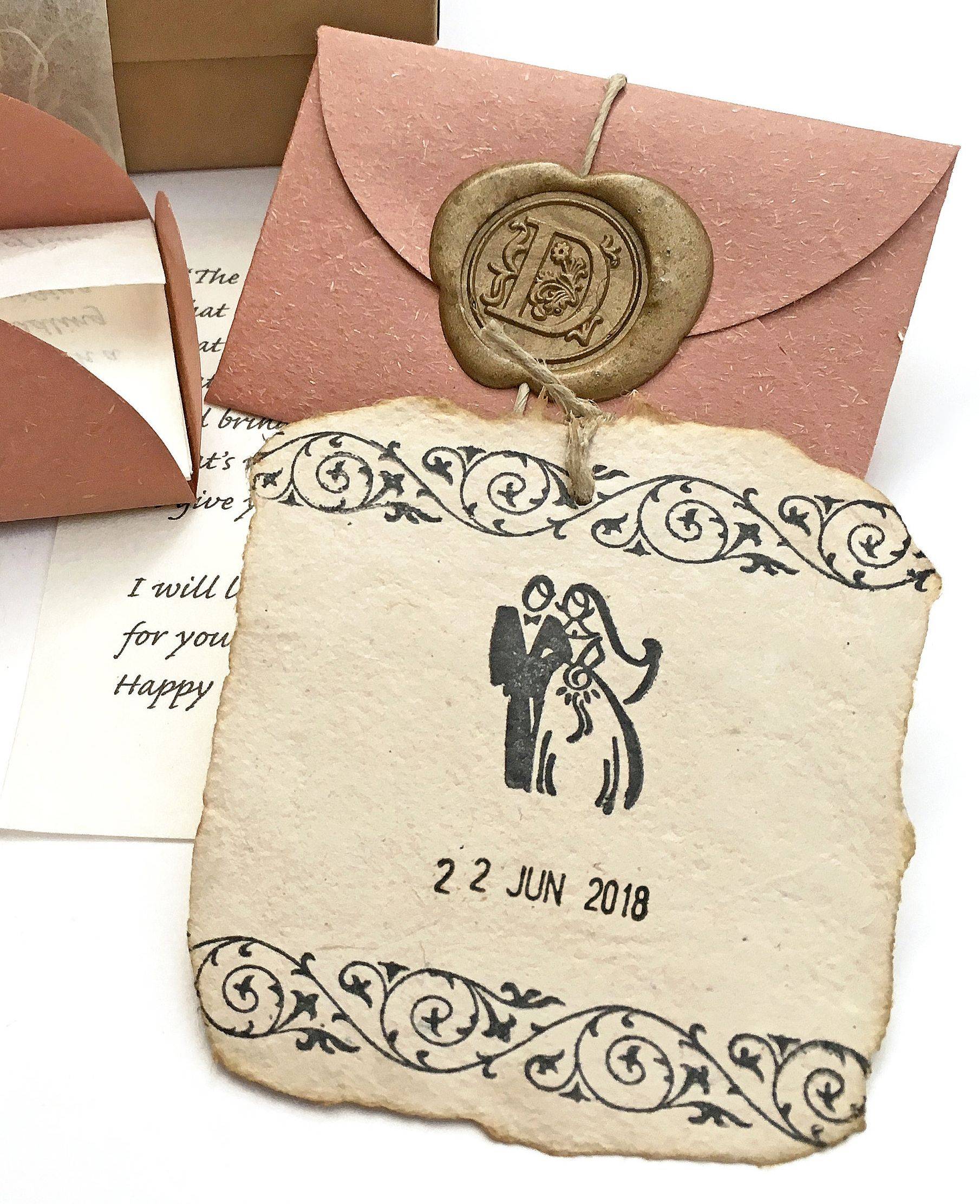 Unique one year wedding anniversary gift Personalized