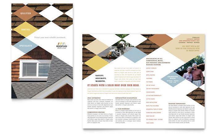 Roofing Contractor Brochure Design Template By Stocklayouts