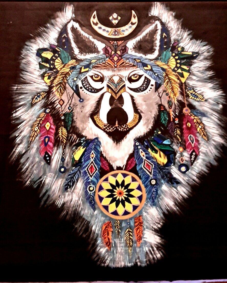 Akrilik Boyama Tablo Kurt Wolf Mandala Ev Dekorasyonu