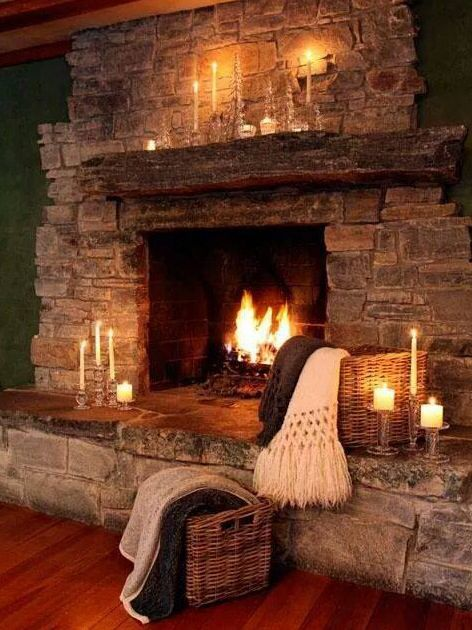 Beautiful Hearth Rustic House Cabin Fireplace Cozy Fireplace