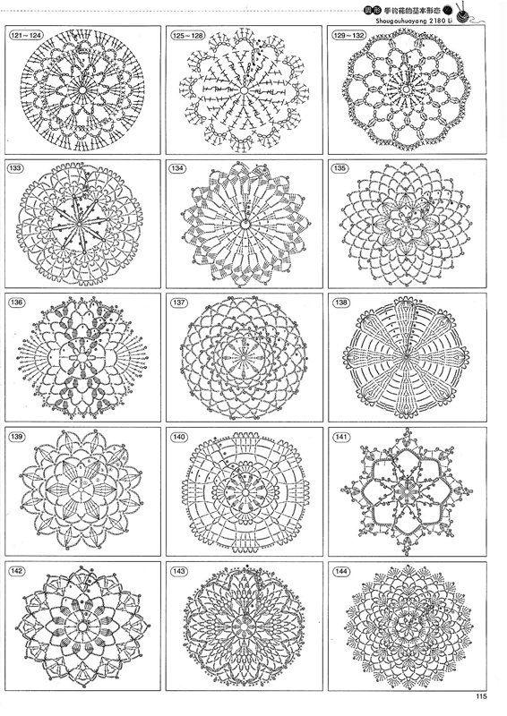 Free Crochet Motif Charts | doily | Pinterest | Muster stricken ...