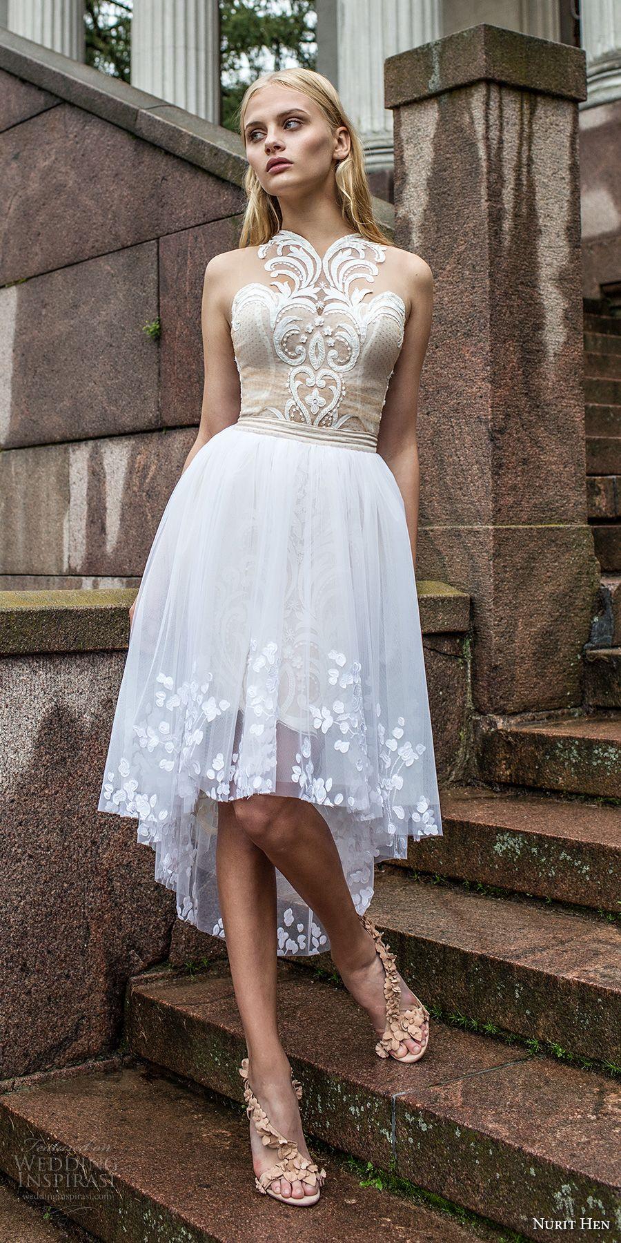 Nurit Hen Ivory and White 2017 Wedding Dresses | Short wedding ...