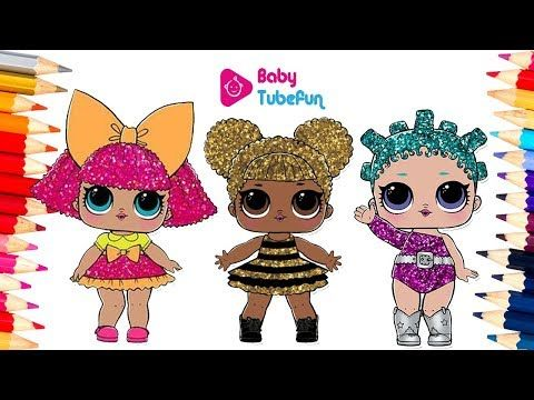 (1) colouring lol surprise dolls colouring pages, Glitter ...
