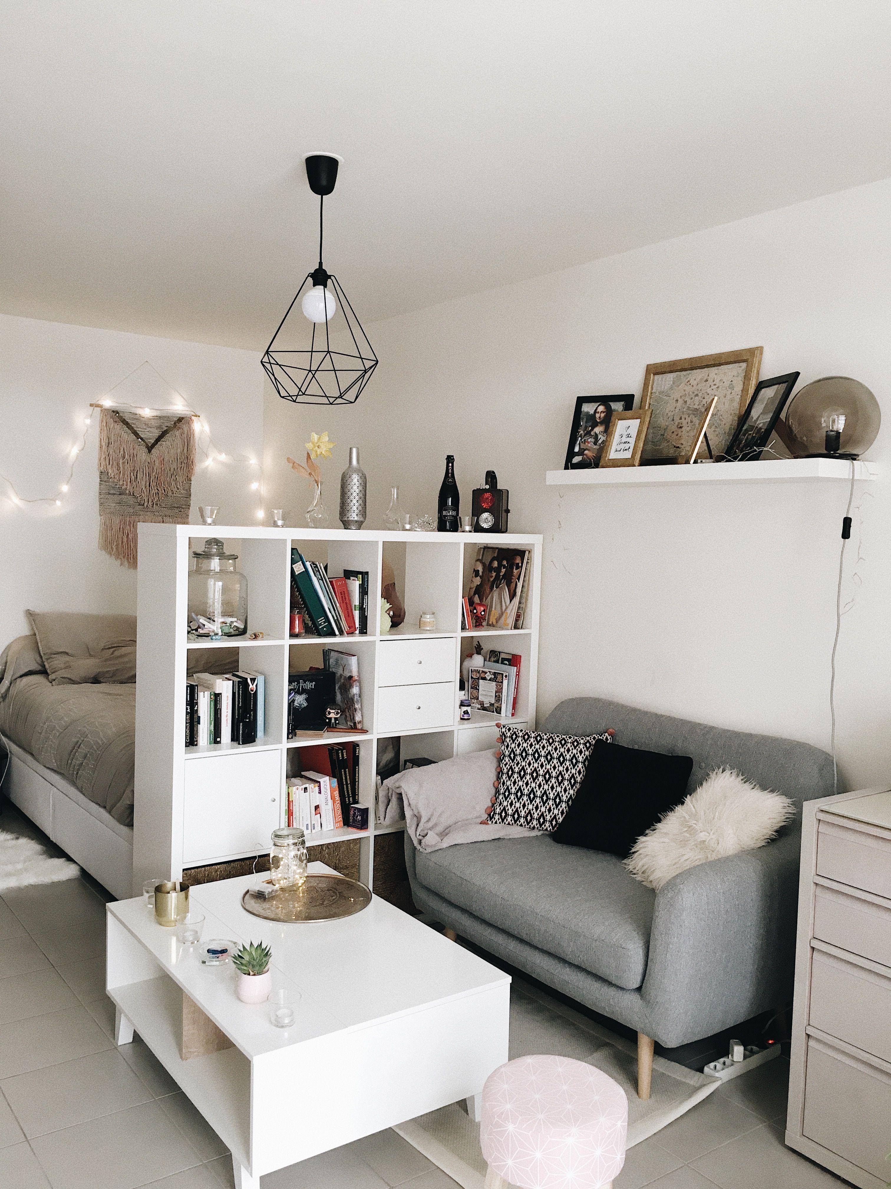 idee deco pour amenager un studio de 30m2 c est possible d avoir son coin nuit et en plus c est cosy decoration studio cosy appartmentdecoration