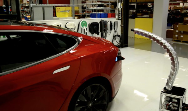 Tesla Shows Prototype Researcher Loader New Car Models 2019 Car Reviews Car Models Miniature Cars Electric Car Charging Car Electric Vehicle Charging Station