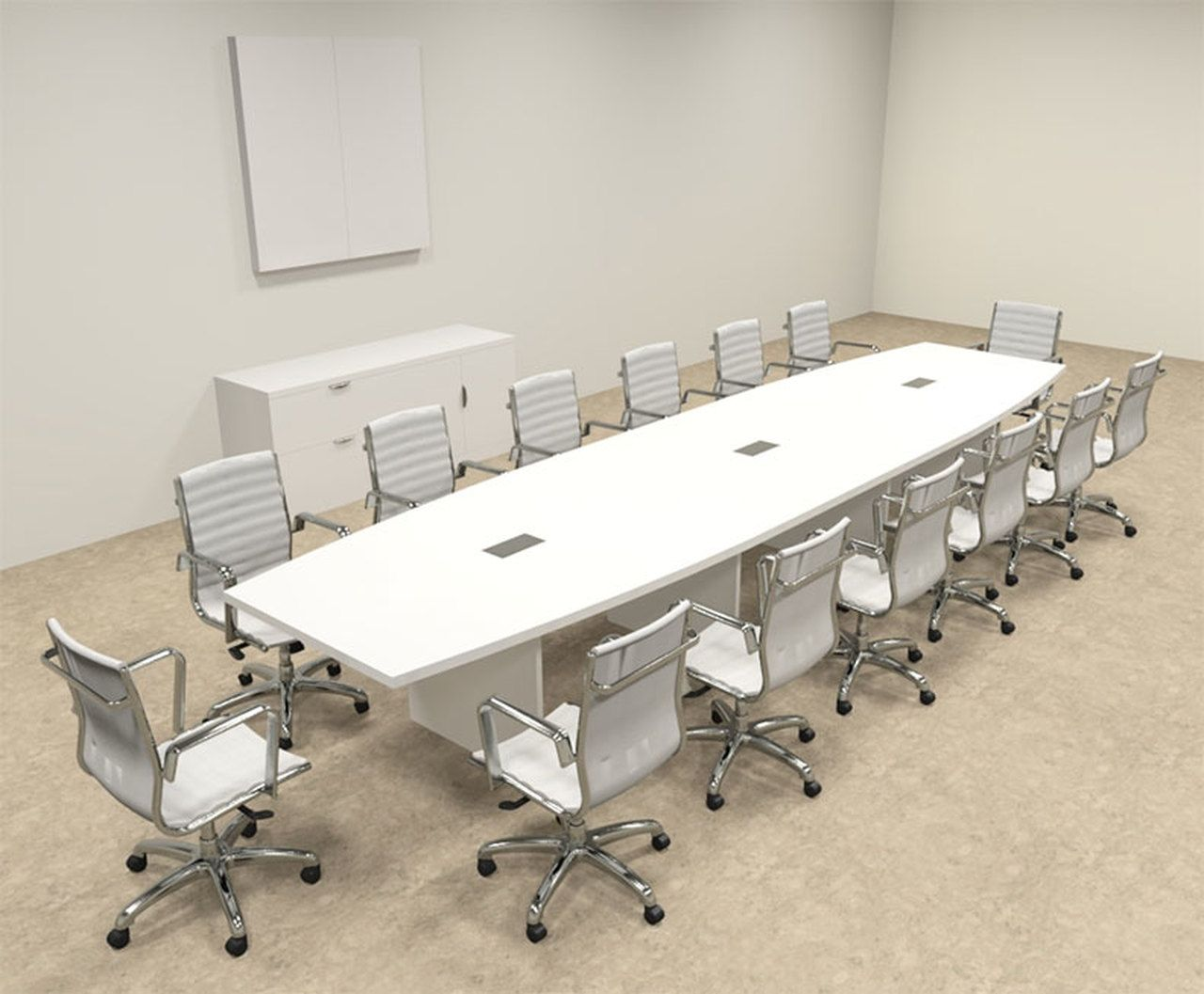 Modern Boat Shaped 16 Feet Conference Table Of Con C125 In 2020 Conference Table Office Table Design Table