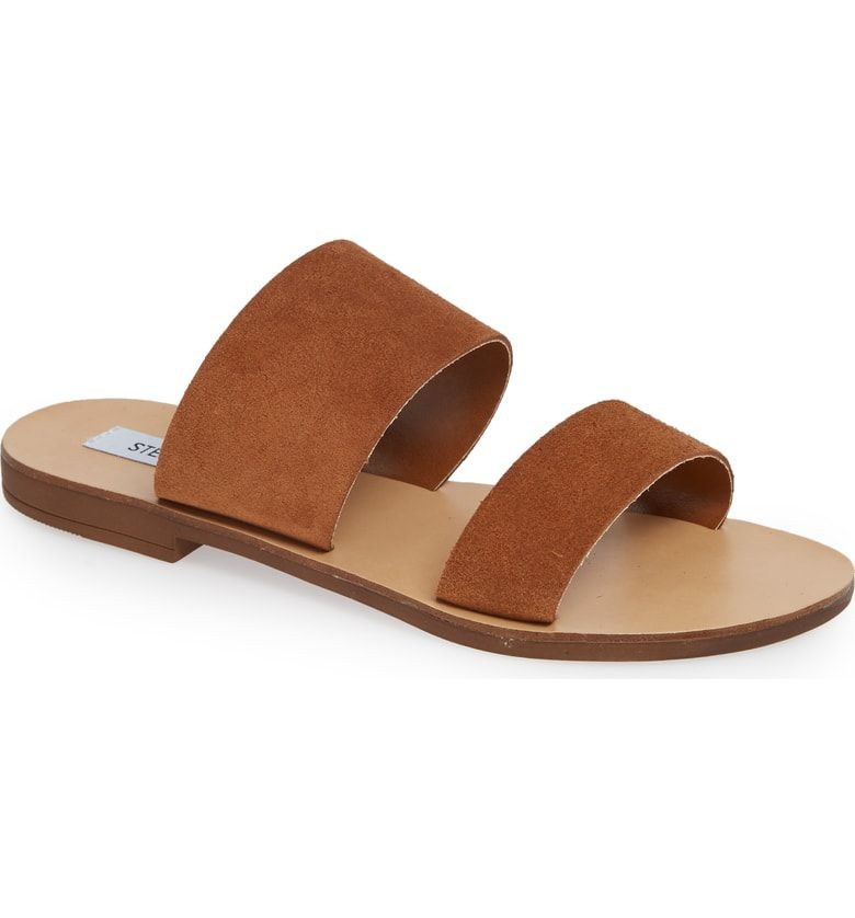 47fc2224dde Free shipping and returns on Steve Madden Slide Sandal (Women) at Nordstrom.com.  Soft straps cross atop an easygoing sandal in a versatile silhouette.