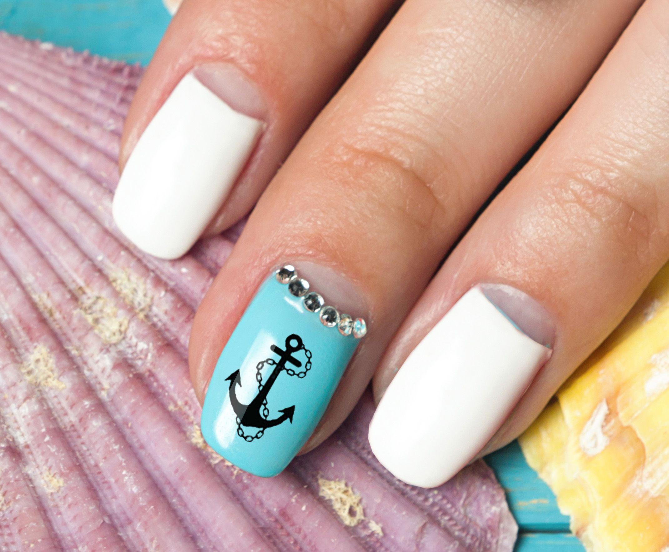 Nautical Nail Art Decals Set 1 Nautical Nail Art Decals