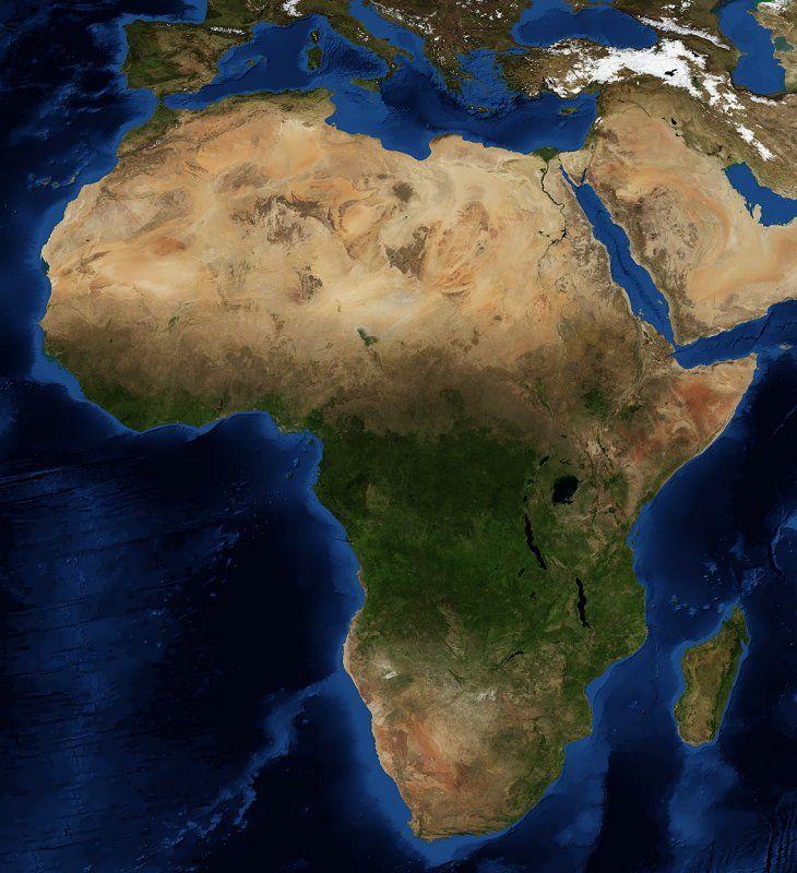 прилюдно призналась фото африканского континента из космоса правила распространяются