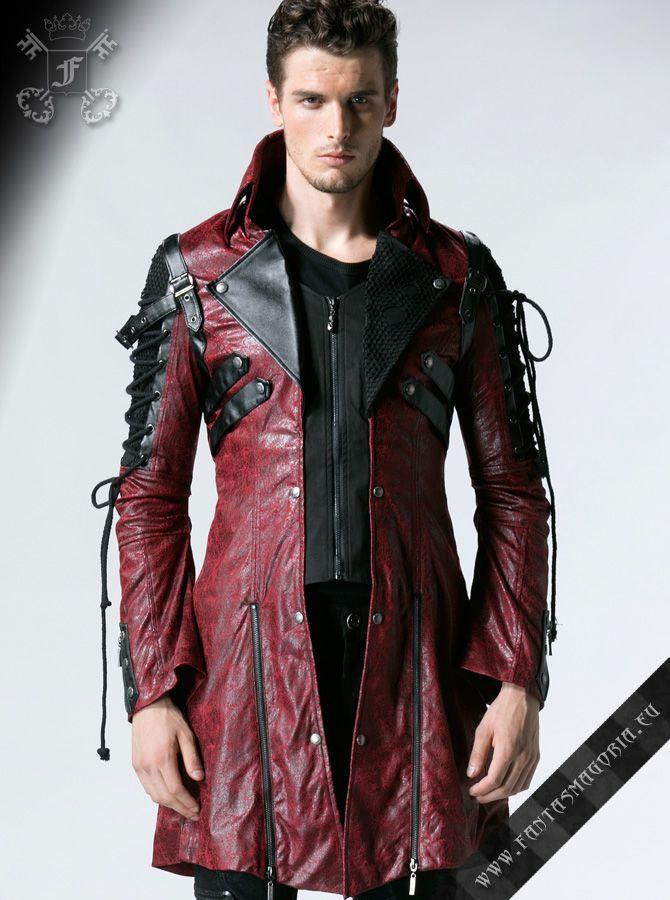 Poisonblack men's jacket-red | goth men | Pinterest | Vegan ...