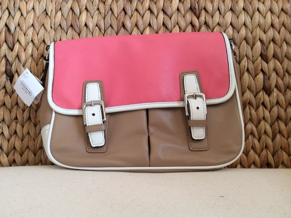 93ef33452a46 NWT Coach Park Color Block Leather Cross Body Purse F23383  Coach   MessengerCrossBody