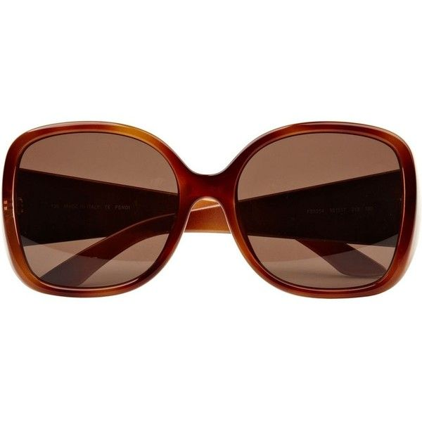 bb5747adbaec River Island Brown print fendi sunglasses ( 240) ❤ liked on Polyvore  featuring accessories