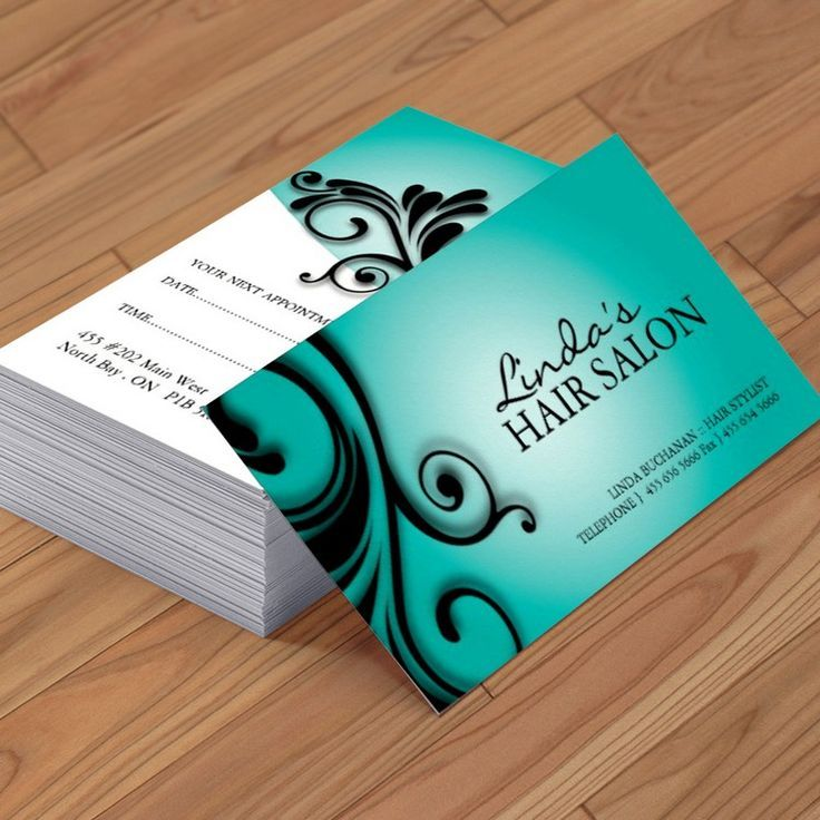 Hair salon business card | Business cards, Business and Salons