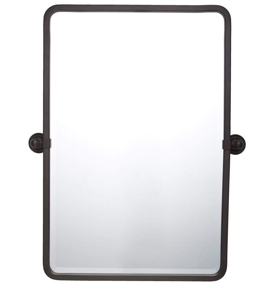 An Industrial Take On The Classic Pivot Mirror Its Simple And Timeless Design Would Elevate