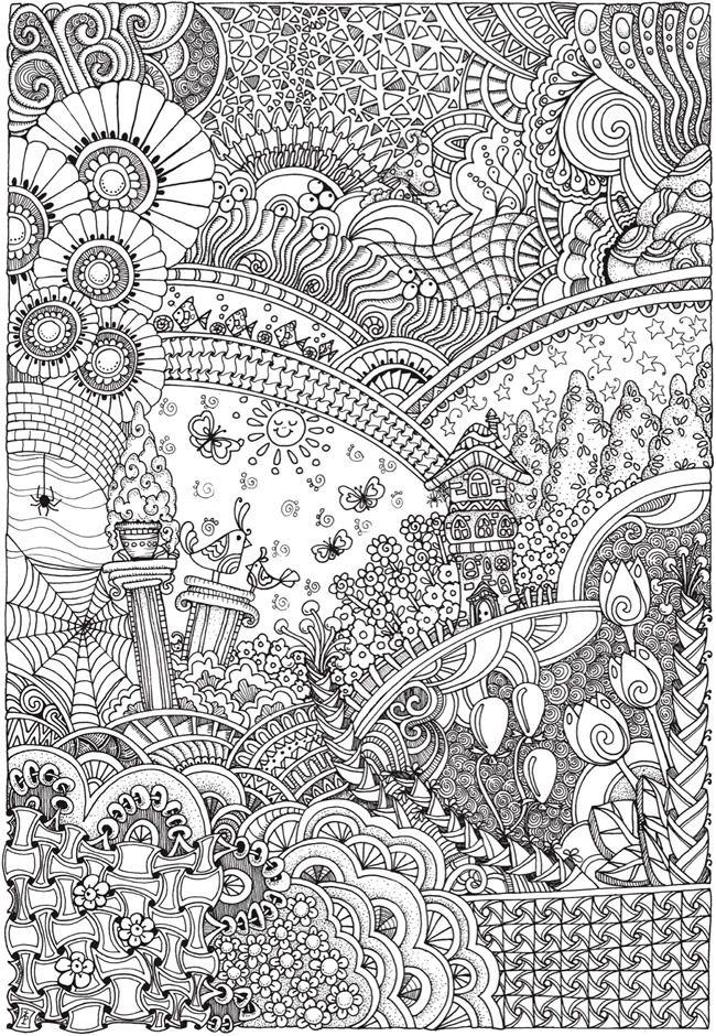 Zentacle seasons Coloring pages, Mandala coloring