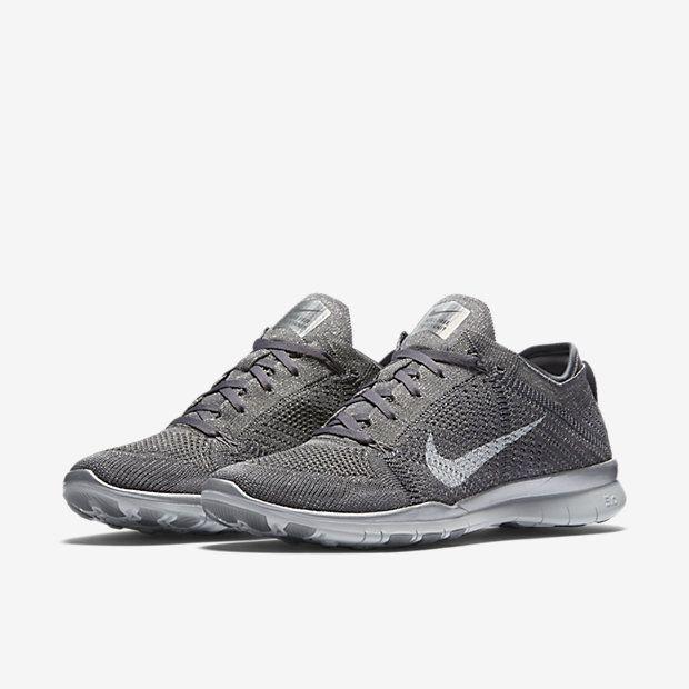 Nike Free TR 5 Flyknit Metallic Women's Training Shoe. Nike