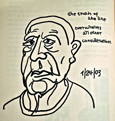 """the truth of the line overwhelms all other considerations"" from the Book of Longing by Leonard Cohen"