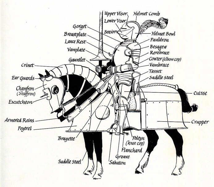 ARMOR: Anatomy of horsed armor; this is actually really helpful with ...