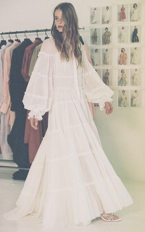 Division Tiered Cotton Maxi Shirt Dress by Aje | Moda Operandi ...