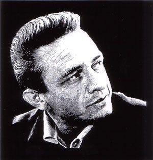 Stickers Johnny Cash Johnny Portrait
