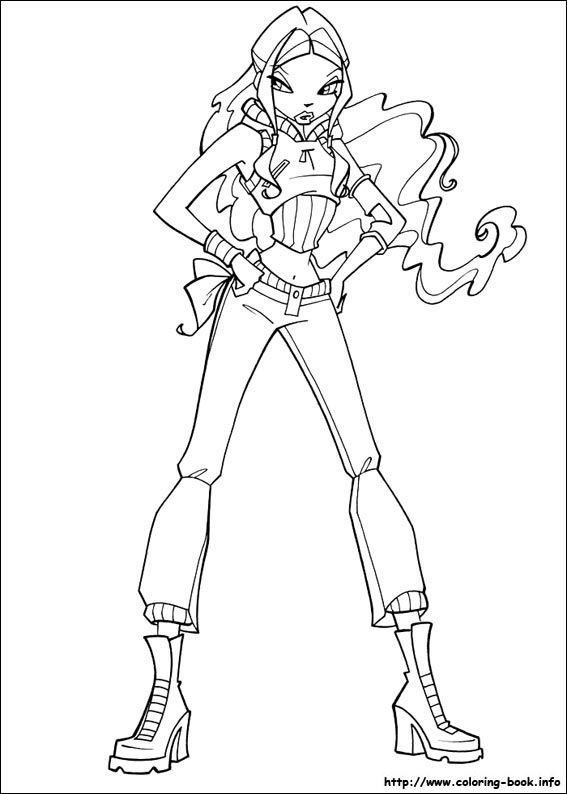 Winx Club Coloring Picture Winx Club Pinterest Coloring Pages