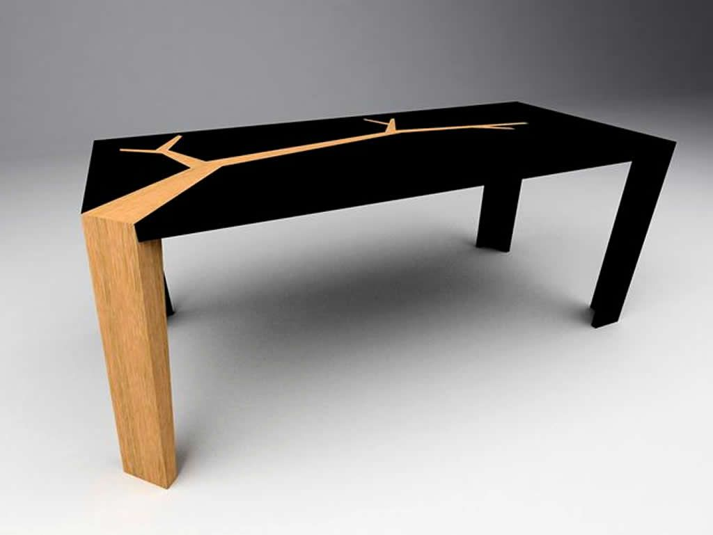 Handcrafted furniture design of angkor dining table by olivier dolle