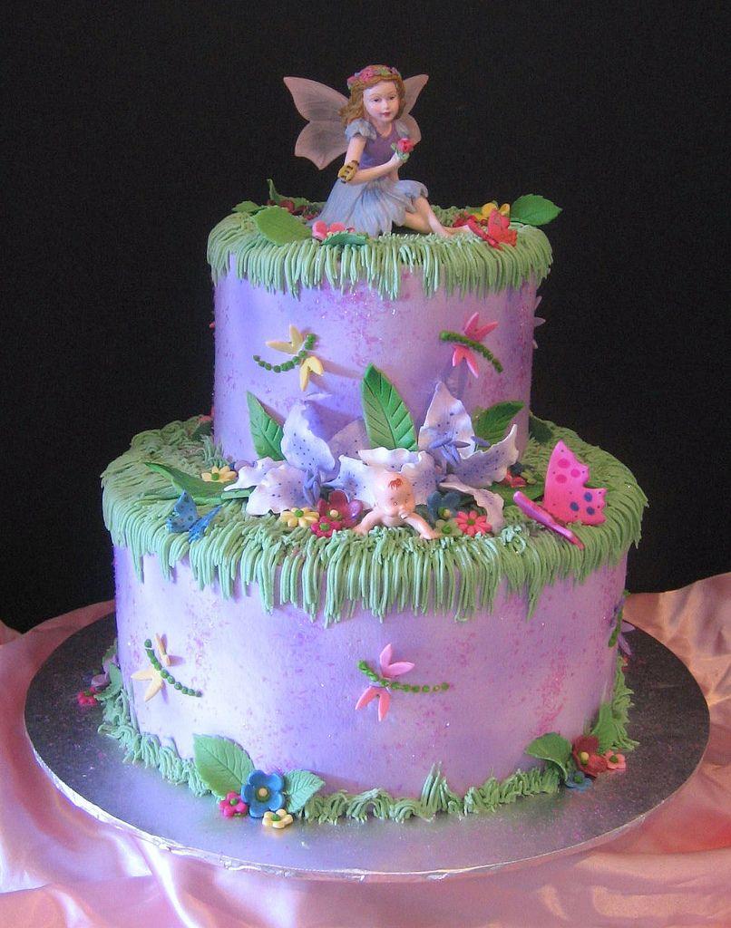 purple fairy tail cake Fairy garden cake, Fairy birthday
