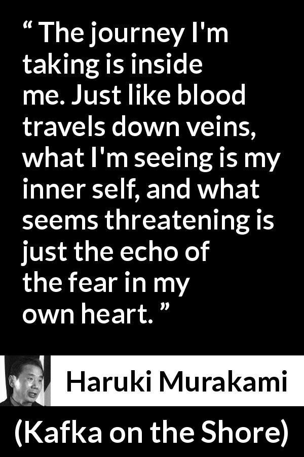 Haruki Murakami About Fear Kafka On The Shore 2002 Haruki