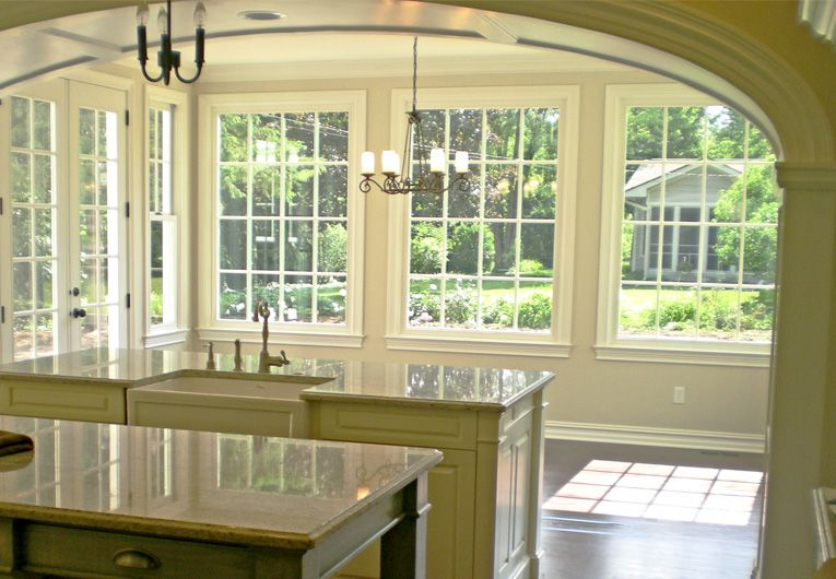 Custom home ideas images gallery morning rooms for Kitchen morning room designs