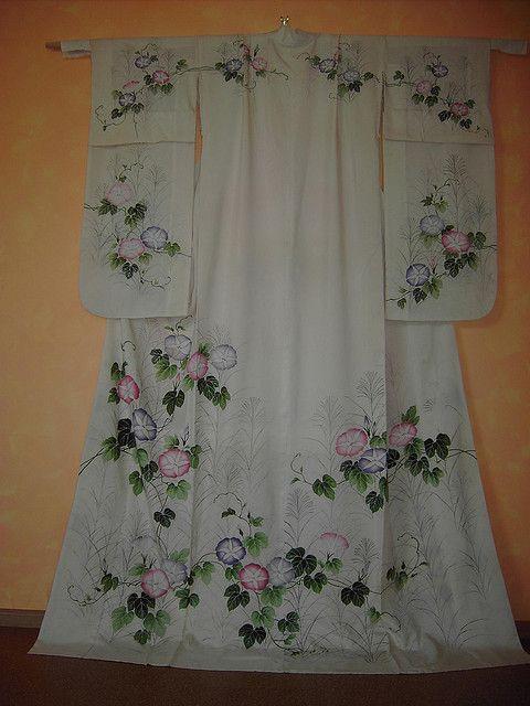 Awesome Hikizuri Kimono Design Fabric Painting Japanese Kimono