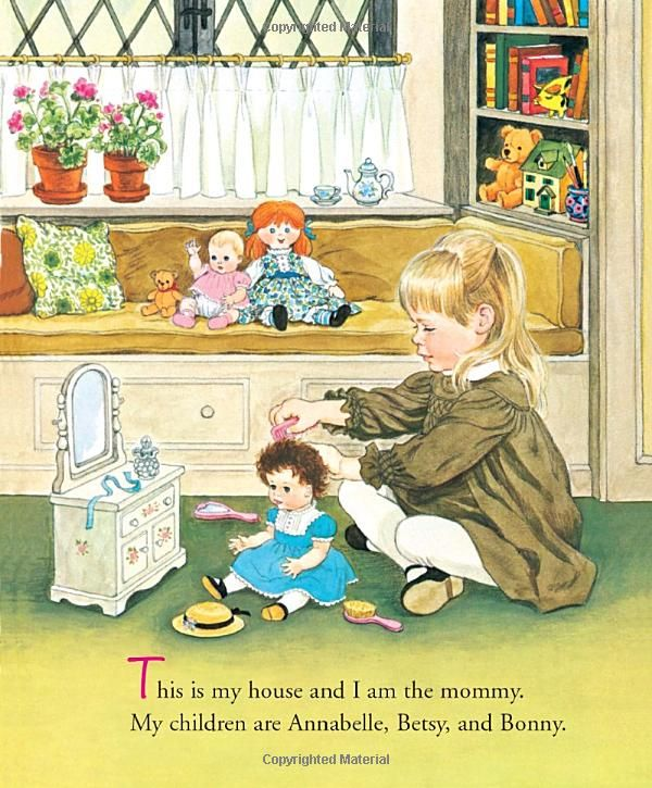 Little mommy-my favorite book as a kid. My Dad built me this dresser for my birthday.
